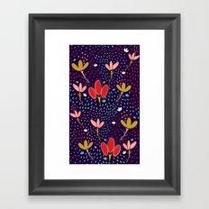 Vintage Ditsy Floral Framed Art Print