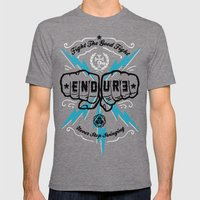 ENDURE FIST Mens Fitted Tee Tri-Grey SMALL