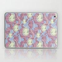 Cameo & Trailing Hair // Pink & Blue Pastels Laptop & iPad Skin