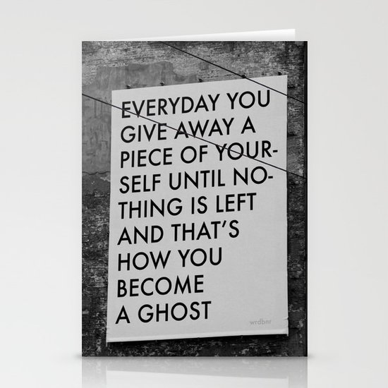 HOW TO BECOME A GHOST Stationery Card