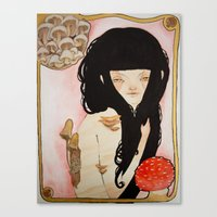 Amanita - Mushroom Death Canvas Print