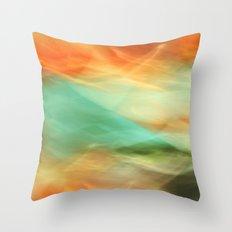 Abstract Art II Blue/Black/Green/Red Throw Pillow
