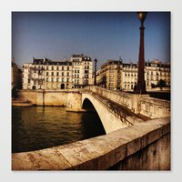 Bridges Of Paris - Ile S… Canvas Print
