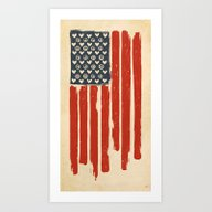 Red And Blue And White Art Print