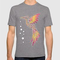 Bubble Bird Mens Fitted Tee Tri-Grey SMALL