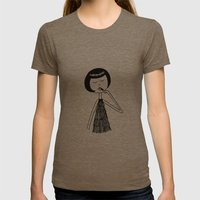 Lipstick Womens Fitted Tee Tri-Coffee SMALL