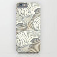 waves iPhone & iPod Cases featuring waves by Vickn