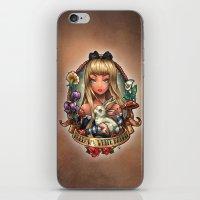 Follow The White Rabbit. iPhone & iPod Skin