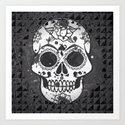 Black and white Skull Art Print