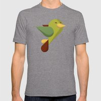 Bird Mens Fitted Tee Tri-Grey SMALL