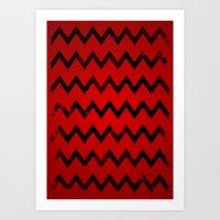 Zig & Zag Art Print