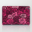 Romantic Pink roses with black outline iPad Case
