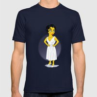 Golden Age: Elizabeth Mens Fitted Tee Navy SMALL