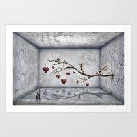 Der alte Liebesbaum  Art Print