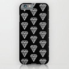 Bijou - geometric gem diamond pattern in black and white Slim Case iPhone 6s