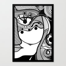 Warmi face Canvas Print
