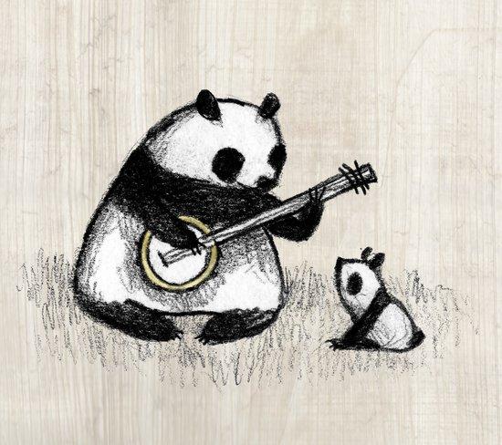 Banjo Panda Art Print