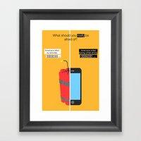 Home Threat Framed Art Print