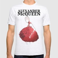 Alexander McQueen 2 Mens Fitted Tee Ash Grey SMALL