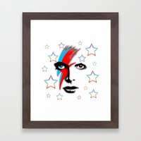 Bowie's Eyes Framed Art Print