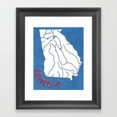 Georgia State Map Framed Art Print