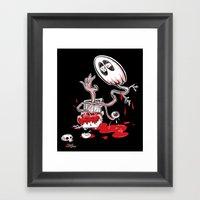 Blood Dumpster Framed Art Print