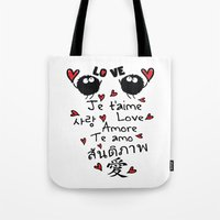 Love In Many Language Tote Bag