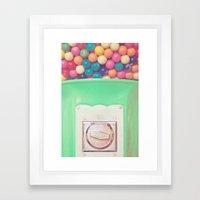 Happy Bubblegum Framed Art Print