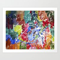 Color Collision Art Print