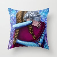 Anna and Elsa ~Frozen Throw Pillow