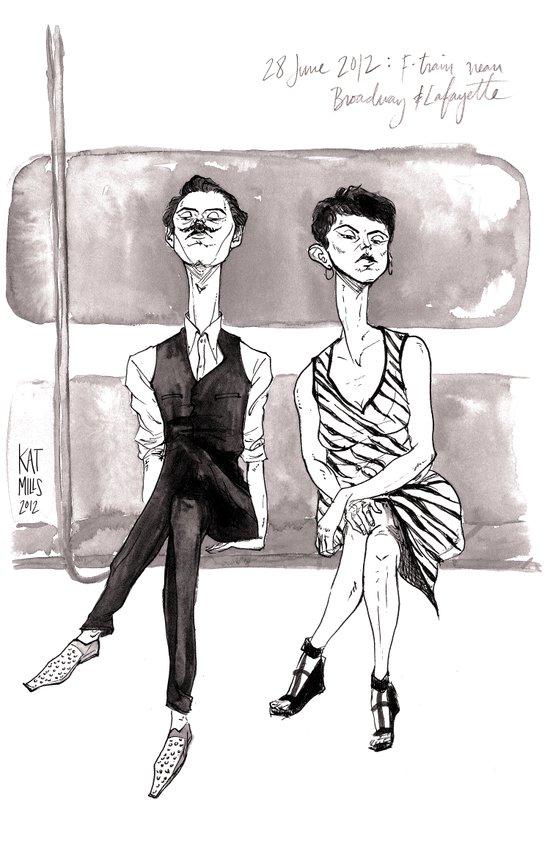 F-Train Snobs by Kat Mills Art Print