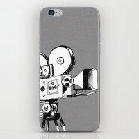 vintage filming iPhone & iPod Skin