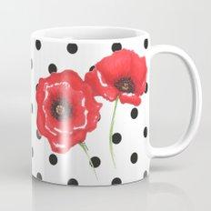 Poppies and polka dots Mug
