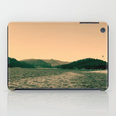 Sunsetting landscape photography of sky, lake and mountain. iPad Case