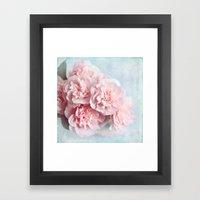 pink camellia Framed Art Print