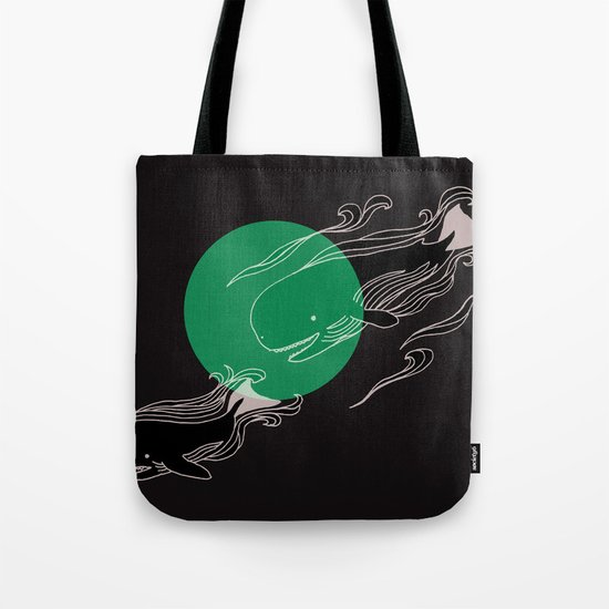 Finger Whales Tote Bag