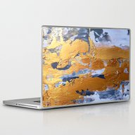 Laptop & iPad Skin featuring Gold In The Ice by Haroulita