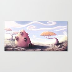 Bubble house Canvas Print