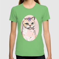Josephine The Cat Womens Fitted Tee Grass SMALL