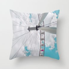 eye in the sky... Throw Pillow