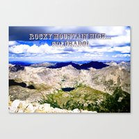 Rocky Mountain HIGH -- Colorado Canvas Print