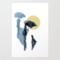 when it pours it rains Art Print