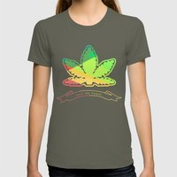 Weed The People Womens Fitted Tee Lieutenant SMALL