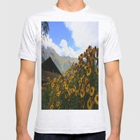 Daisies And Alps Mens Fitted Tee Ash Grey SMALL