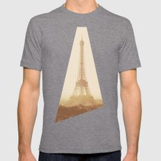 Expired Paris Mens Fitted Tee Tri-Grey SMALL