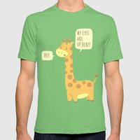 Giraffe problems! Mens Fitted Tee Grass SMALL