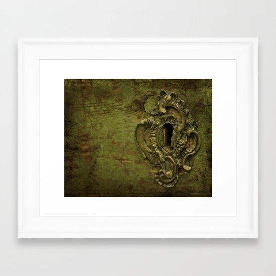 Keyhole Framed Art Print
