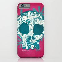 iPhone & iPod Case featuring Skull by Piktorama
