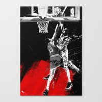 Pippen Over Ewing Canvas Print