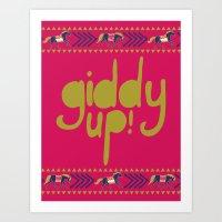 Giddy Up Art Print